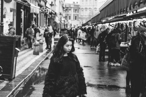 A tourist in Prague