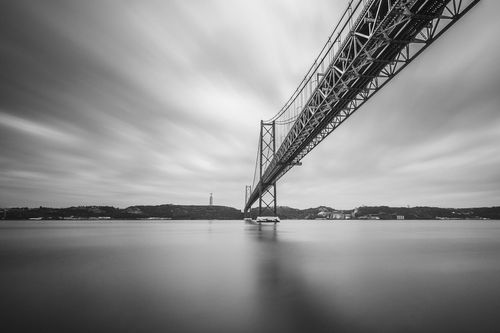 The 25 de Abril Bridge, Lisbon, Portugal